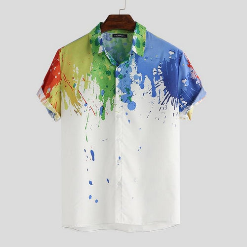 Colorful Paint Splash Casual Shirts