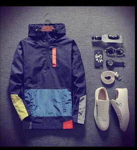 Hooded Waterproof Cotton Windbreaker Jacket
