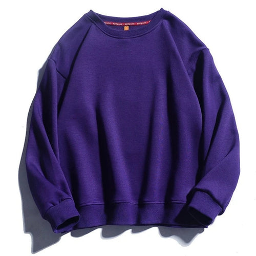 Comfortable Solid Color Sweatshirt