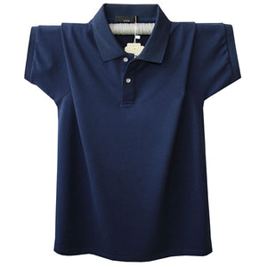 big and tall navy blue polo shirt