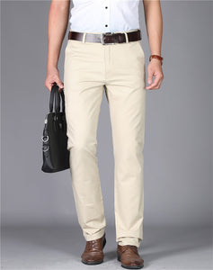 Beige big and tall office pants