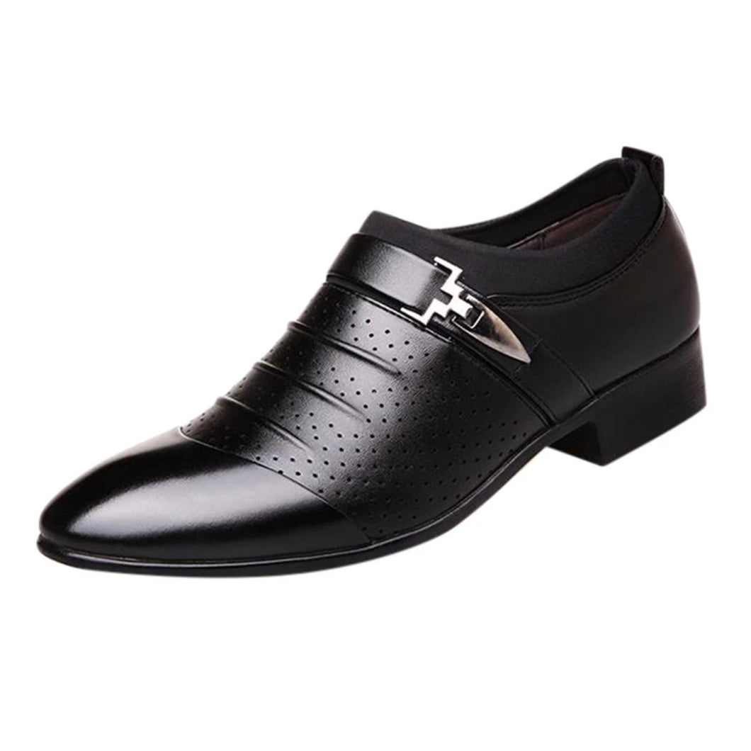 Business Formal Slip On Oxford Leather Shoes