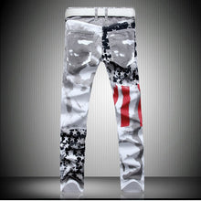 Load image into Gallery viewer, Men's American Flag Jeans