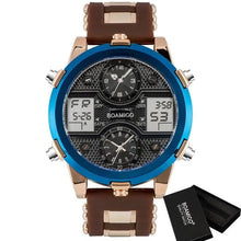 Load image into Gallery viewer, Men's 3 Time Zone Adjustable Sports Watch