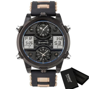 Men's 3 Time Zone Adjustable Sports Watch