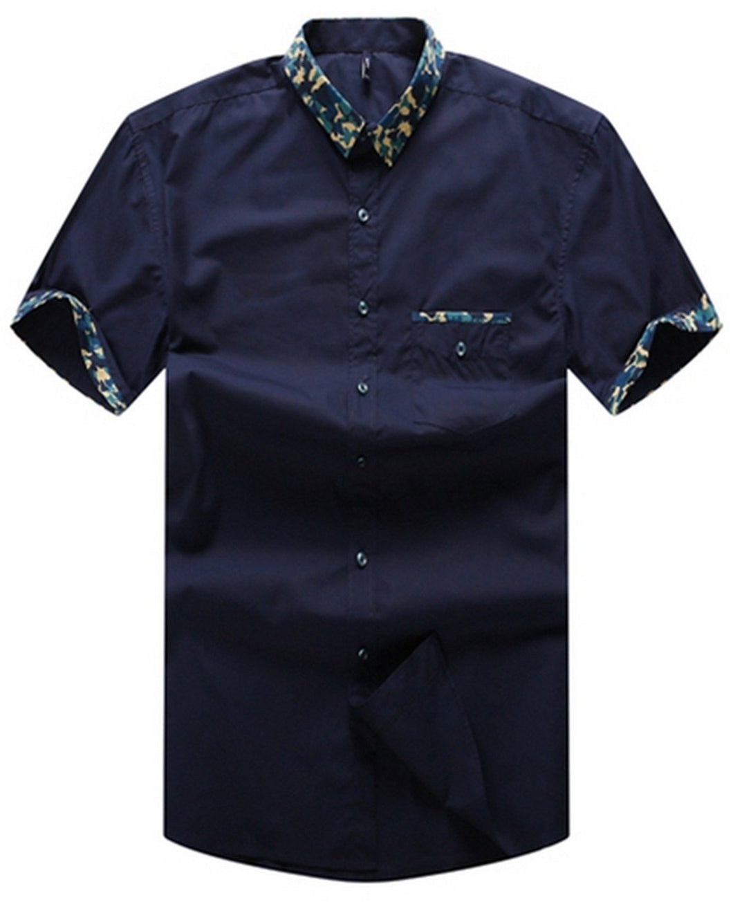 Navy blue big and tall shirt