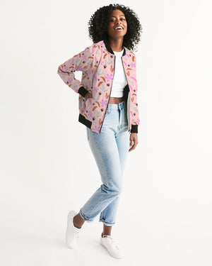 Pink Jungle All-Over Print Women's Bomber Jacket