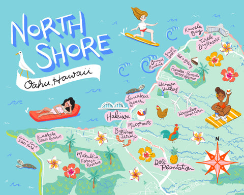 North Shore Illustrated Map