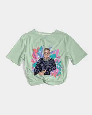 Ruth Bader Ginsburg Women's Twist-Front Cropped Tee