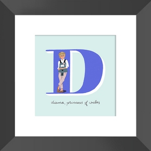 Diana, Princess of Wales Framed Print