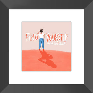 Find Yourself Framed Print Framed Print Gooten Black