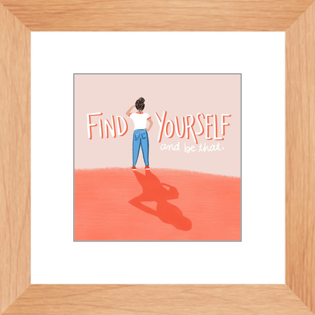 Find Yourself Framed Print Framed Print Gooten Natural