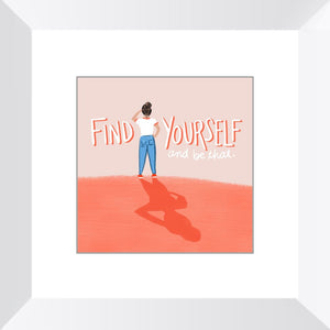 Find Yourself Framed Print Framed Print Gooten White