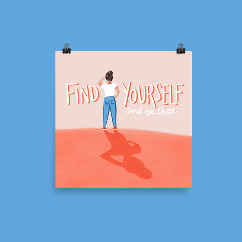Find Yourself Print Art Print Printed Mint