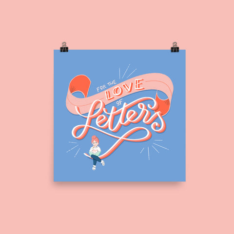 For the Love of Letters Print Art Print Printed Mint