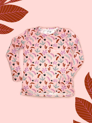 Pink Jungle All-Over Print Unisex Long Sleeve Tee