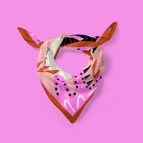 Pink Jungle Bandana