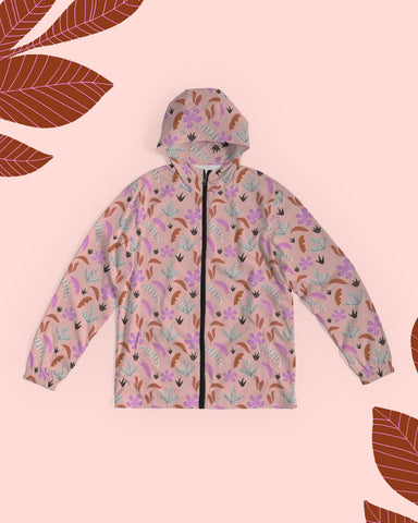 Pink Jungle All-Over Print Unisex Windbreaker