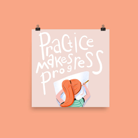 Practice Makes Progress Print Art Print Printed Mint