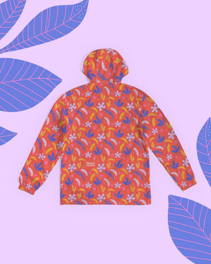 Red Jungle All-Over Print Unisex Windbreaker