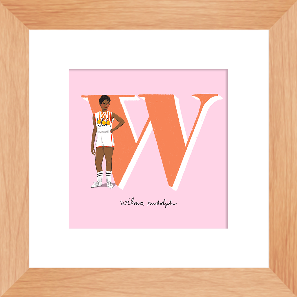 Wilma Rudolph Framed Print