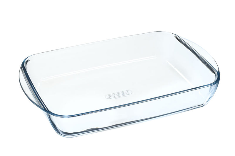 Lot de 2 plats à lasagnes rectangulaires en verre - Essentials