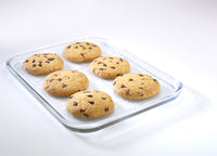 Bake & Enjoy Plaque de cuisson multi-usages en verre 32x26 cm