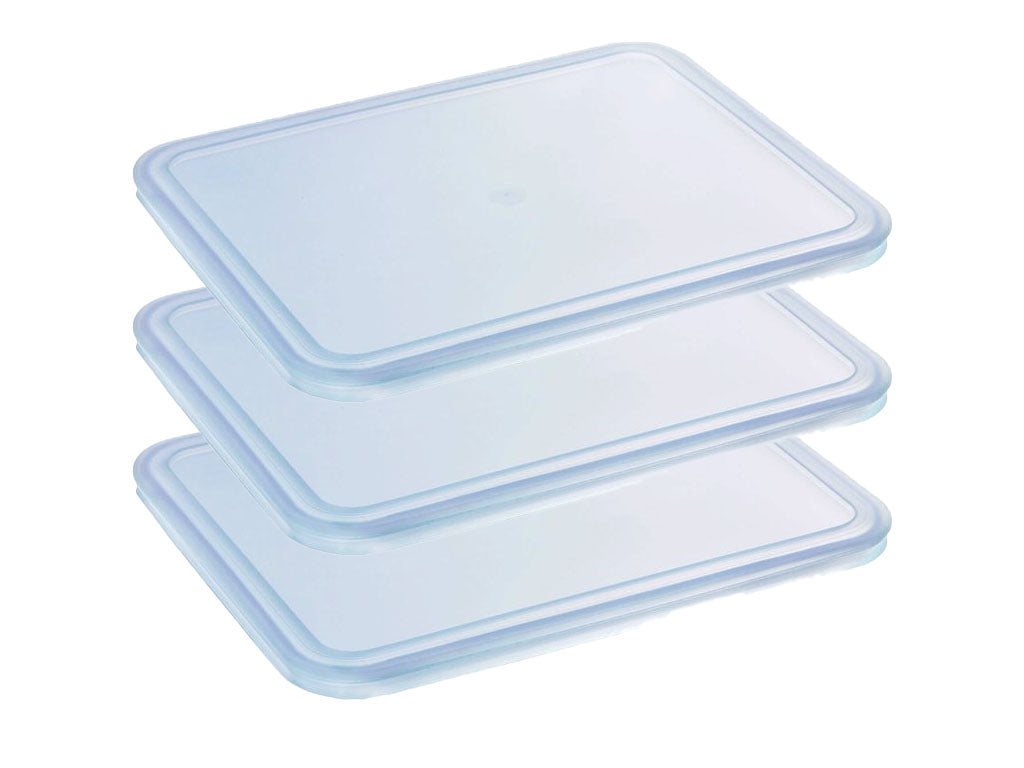 Lot de 3 couvercles rectangulaires Cook & Freeze en plastique