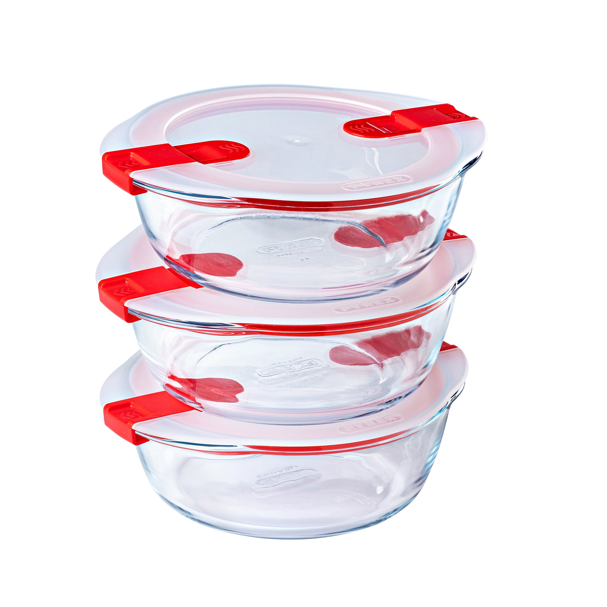 Lot de 3 plats ronds Pyrex® Cook & Heat 20 x 18cm