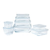 Lot de 8 plats de conservation en verre rectangulaires avec couvercle - Cook & Freeze
