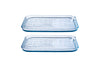 Lot de 2 plaques de cuisson multi usage en verre - Bake & Enjoy