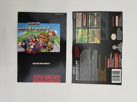 1992 Super Nintendo SNES Super Mario Kart instruction manual / booklet