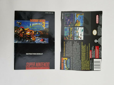 1996 Super Nintendo SNES Donkey Kong Country 3 instruction manual / booklet