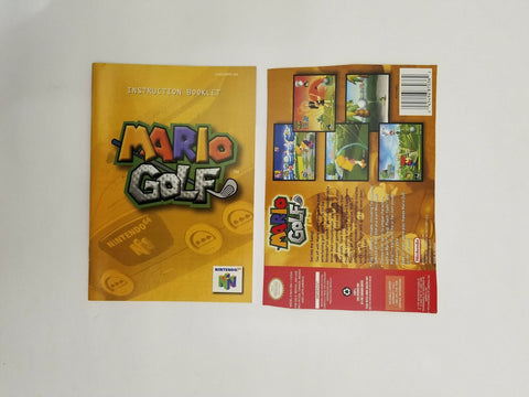 1999 Nintendo 64 N64 Mario Golf instruction manual / booklet