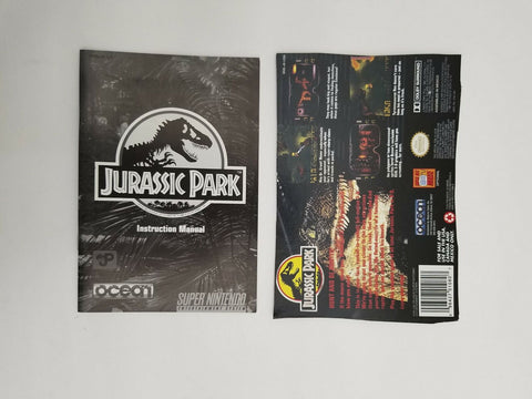 Super Nintendo SNES Jurassic Park instruction manual / booklet