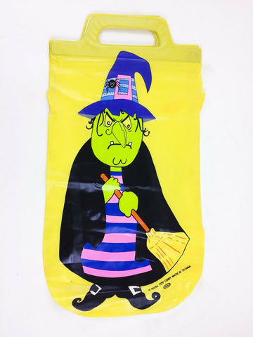 Vintage 1960's Ideal Toy Corp. vinyl Halloween Witch Trick or Treat candy bag