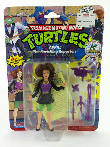 Vintage 1992 Teenage Mutant Ninja Turtles April the Ravishing Reporter MOC TMNT