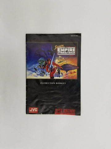 1993 Super Nintendo SNES Star Wars The Empire Strikes Back instruction manual