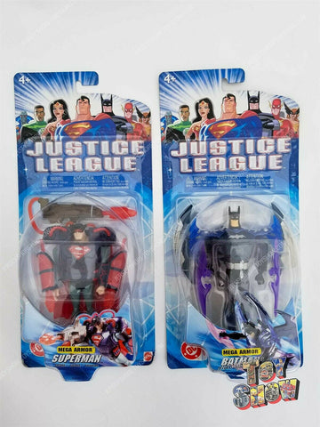 2003 Mattel Justice League Unlimited Mega Armor Superman & Batman action figures
