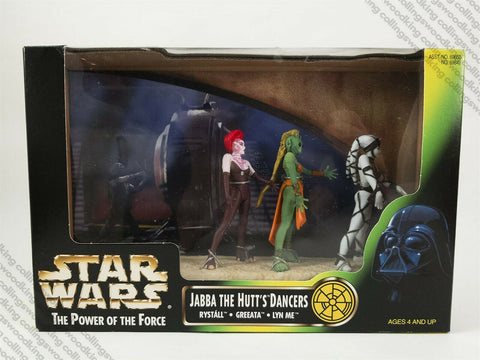1998 Kenner Star Wars POTF2 Cinema Scenes Jabba the Hutt's Dancers figures MISB
