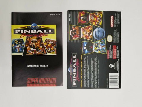 1994 Super Nintendo SNES Super Pinball instruction manual / booklet