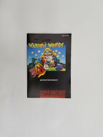 1994 Super Nintendo SNES Wario's Woods instruction manual / booklet