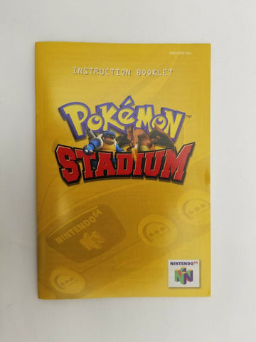 2000 Nintendo 64 N64 Pokemon Stadium instruction manual ONLY