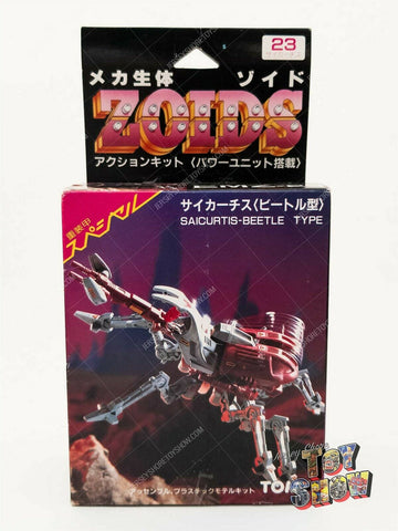 Vintage 1986 TOMY Japanese ZOIDS OJR EMZ-23 Saicurtis Beetle mint in box MIB