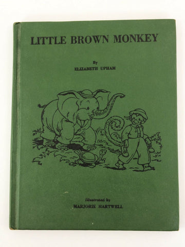 Vintage 1959 Little Brown Monkey by Elizabeth Upham hardcover children's book