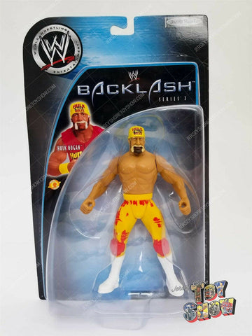 2003 Jakks WWE Wrestling Backlash Series 2 Hulk Hogan action figure MOC - WWF