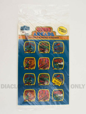 Vintage Sticker Store Kideo Arcade Cola Scented Scratch N Sniff stickers MIP