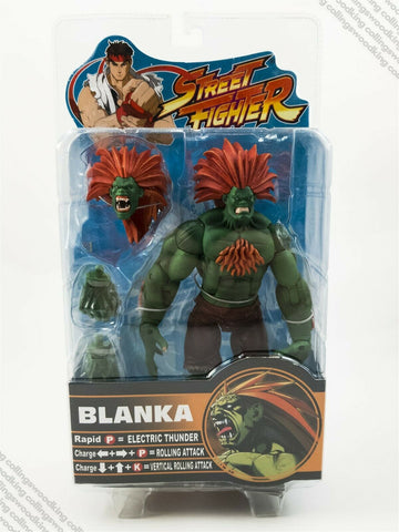 "2005 SOTA Street Fighter Round 2 Blanka 8"" action figure MIP / MOC - Capcom"