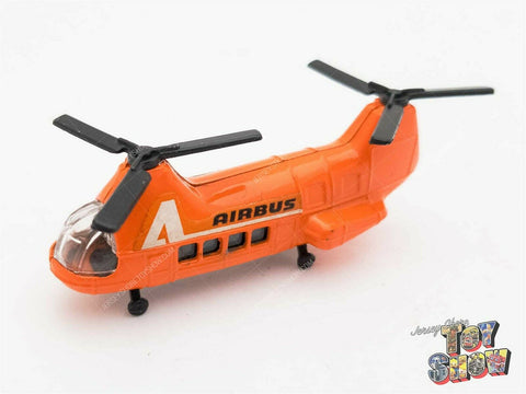 Vintage 1973 Corgi Juniors #35 Airbus diecast helicopter orange w/ black rotors