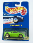 Vintage 1991 Mattel Hot Wheels #228 Zender Fact 4 green mint on card MOC